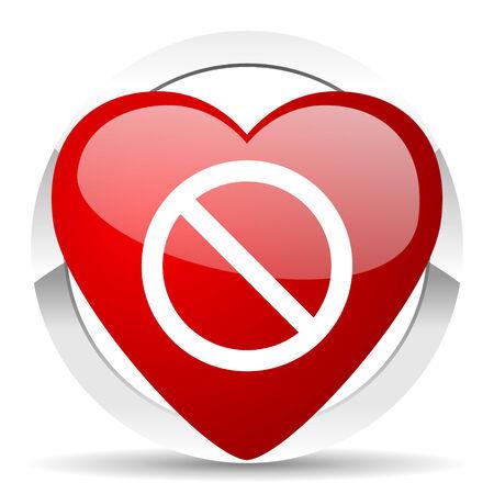 access denied: access denied valentine icon Stock Photo