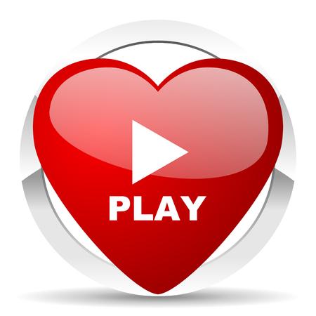 play valentine icon photo