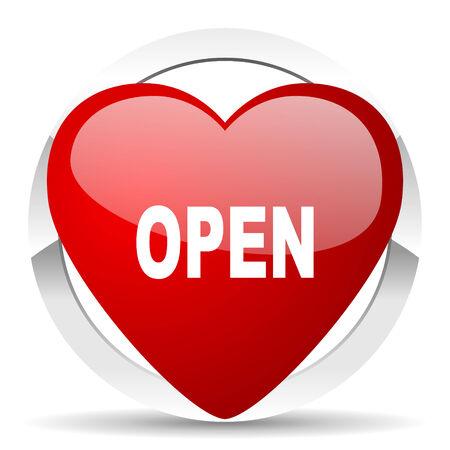 open valentine icon photo