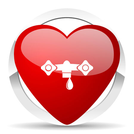 hydraulics: water valentine icon hydraulics sign Stock Photo