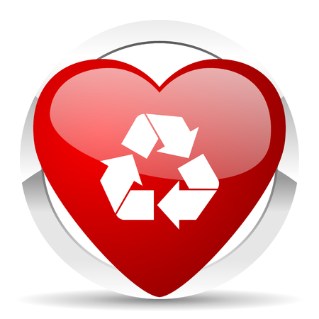 recycle valentine icon recycling sign photo