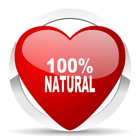 natural valentine icon 100 percent natural sign photo
