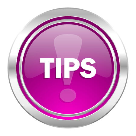 violet icon: tips violet icon Stock Photo