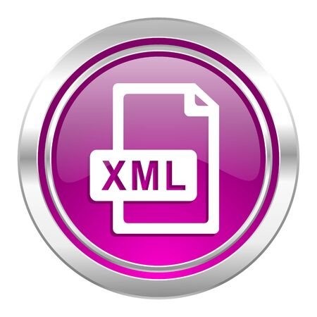 xml: xml file violet icon