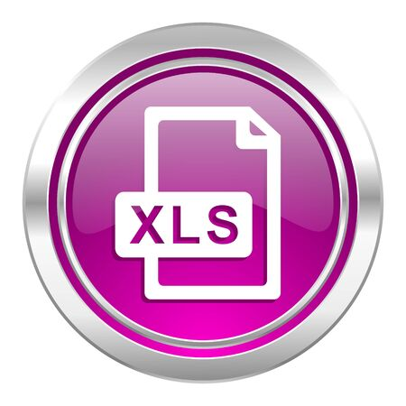 bibliography: xls file violet icon