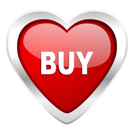 holiday profits: buy valentine icon Stock Photo