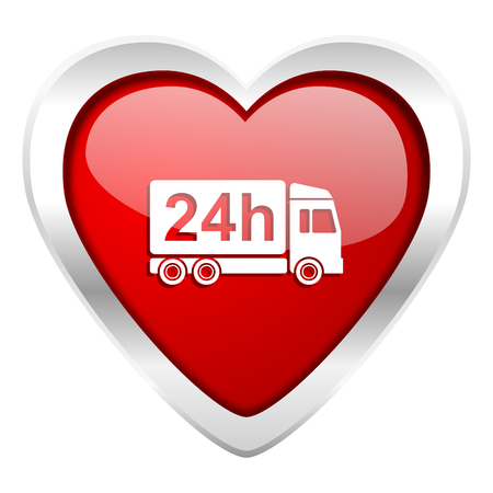 delivery valentine icon 24h shipping sign photo