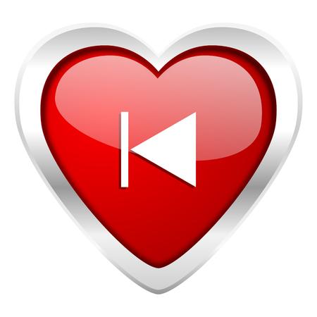 previous: previous valentine icon Stock Photo