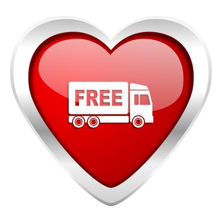 d�livrance: livraison gratuite valentine signe de transport de l'ic�ne
