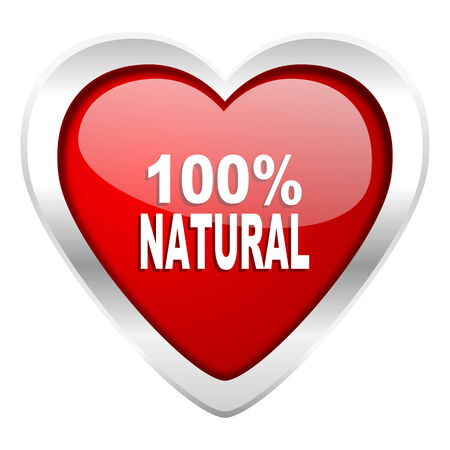 natural valentine icon 100 percent natural sign photo