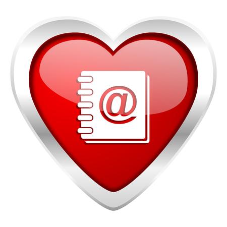 address: address book valentine icon Stock Photo