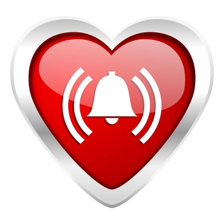 alarm valentine icon alert sign bell symbol photo