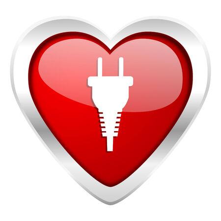plug valentine icon electric plug sign photo
