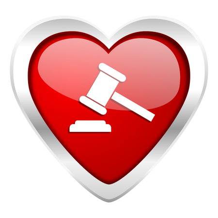 judgement day: auction valentine icon court sign verdict symbol