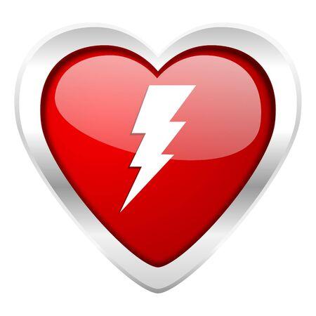 bolt valentine icon flash sign photo
