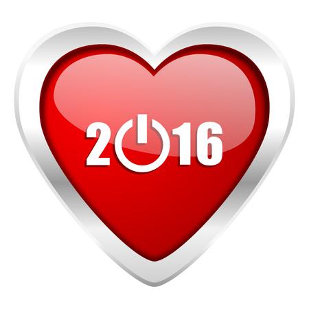 next year: new year 2016 valentine icon new years symbol Stock Photo