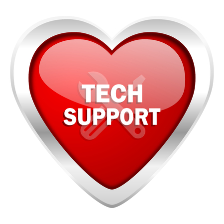 technical support: technical support valentine icon