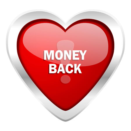 money back: money back valentine icon Stock Photo