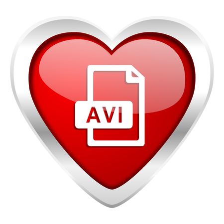 avi: avi file valentine icon Stock Photo