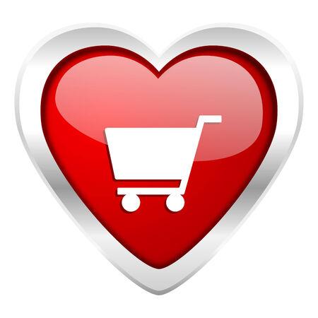 cart valentine icon shop sign photo