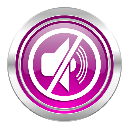 mute: mute violet icon silence sign