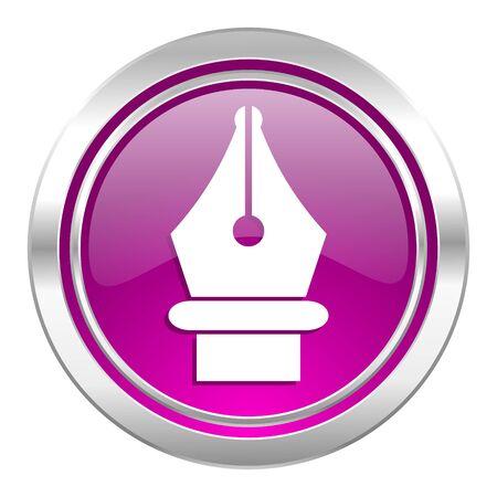 pen violet icon photo
