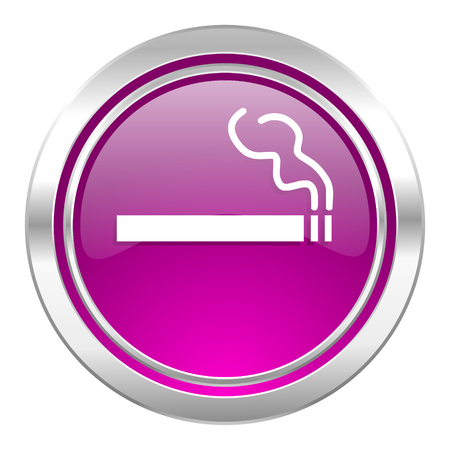 nicotine: cigarette violet icon nicotine sign Stock Photo
