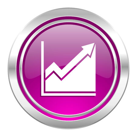 histogram: histogram violet icon stock sign Stock Photo