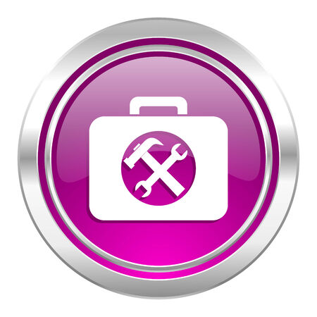 toolkit: toolkit violet icon service sign