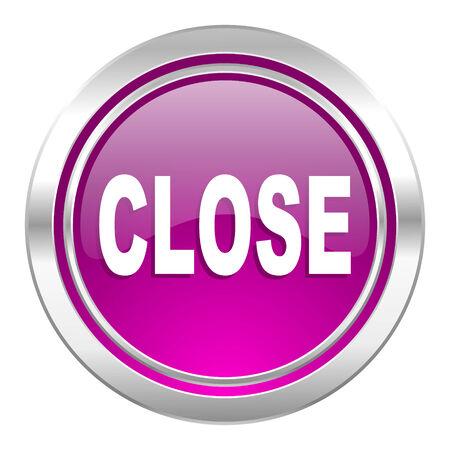disagree: close violet icon Stock Photo