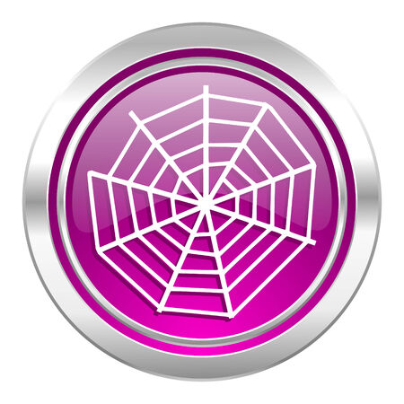 spider web: spider web violet icon Stock Photo
