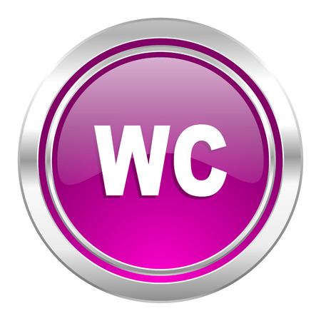 wc sign: toilet violet icon wc sign Stock Photo