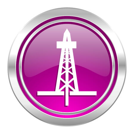 drilling: drilling violet icon Stock Photo