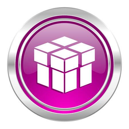 box violet icon photo
