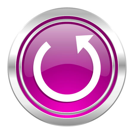 to rotate: rotate violet icon reload sign