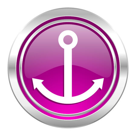 anchor violet icon sail sign photo
