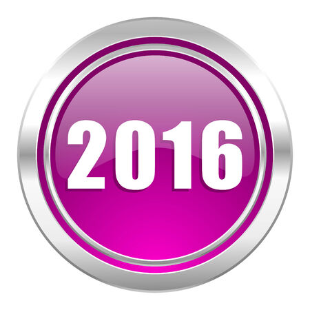 next year: new year 2016 violet icon new years symbol