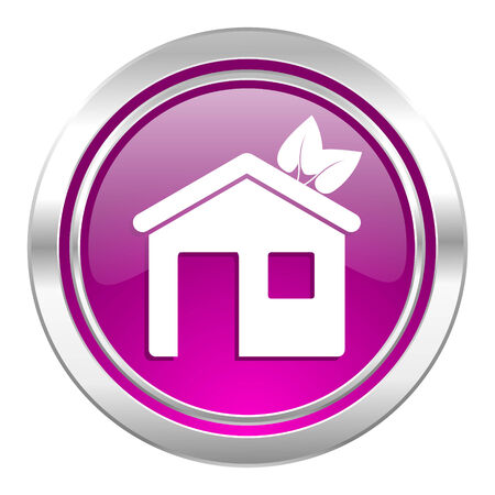 violet residential: house violet icon ecological home symbol
