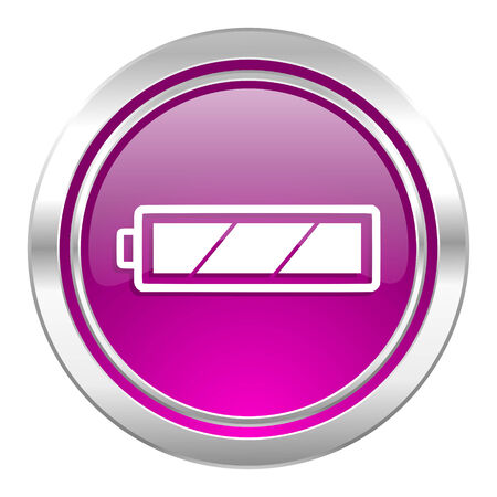 accuse: battery violet icon charging symbol power sign