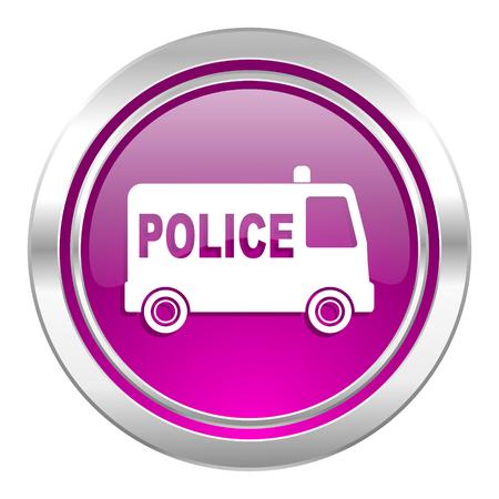 highway patrol: police violet icon