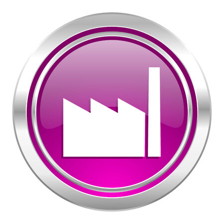 factory violet icon industry sign manufacture symbol Stock Photo