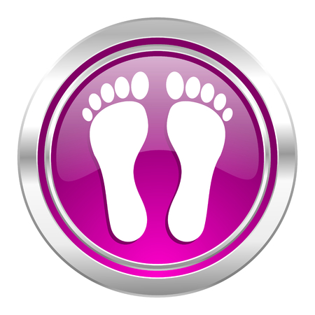 orthopedics: foot violet icon