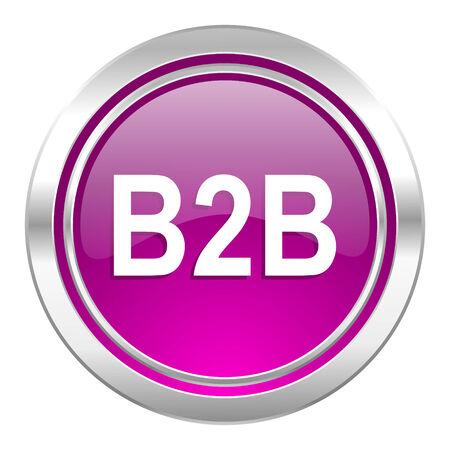 b2b: icono violeta b2b