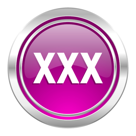 pornografia: xxx violeta signo icono porno