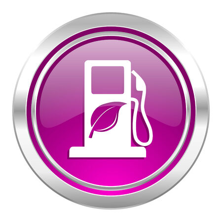canola: biofuel violet icon bio fuel sign Stock Photo