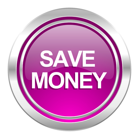 save money: save money violet icon