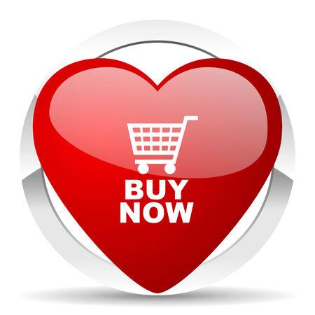 buy now: buy now valentine icon Stock Photo