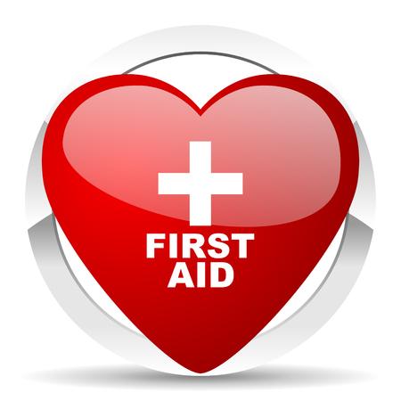 first aid valentine icon photo