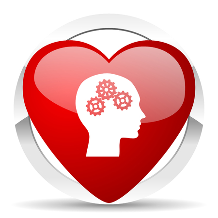 heart intelligence: head valentine icon human head sign