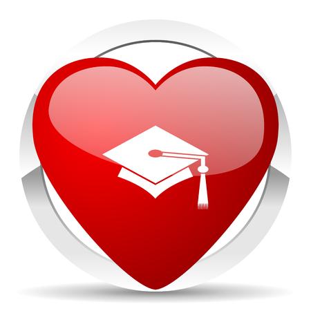 education valentine icon graduation sign photo